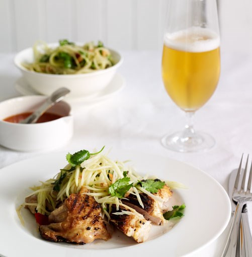 **Grilled chicken and green papaya salad**