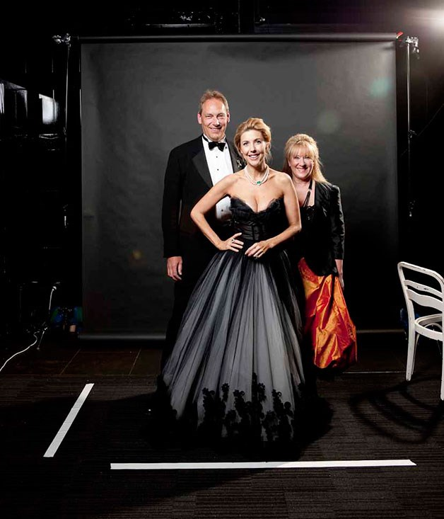 **** OCRF chairman and co-founder Professor Thomas Jobling , Catriona Rowntree and fashion designer Linda Britten.