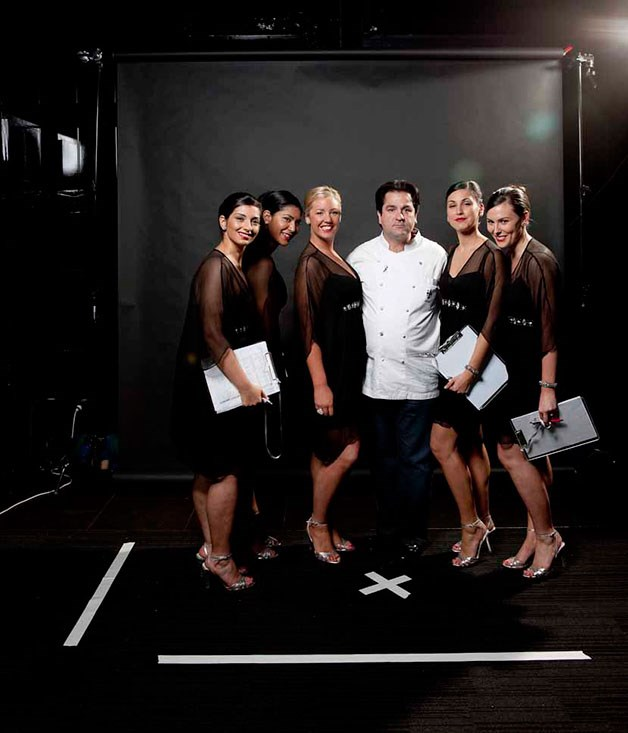**** Guy Grossi and the Witchery hostesses.