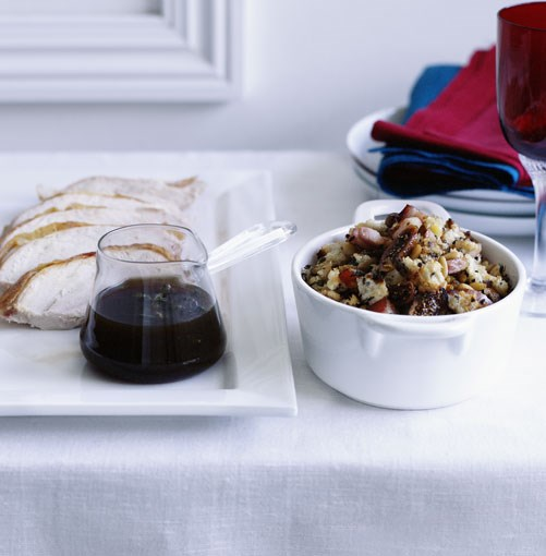 "**Christmas stuffings**  [**Madeira jus**](https://www.gourmettraveller.com.au/recipes/browse-all/madeira-jus-10265|target=""_blank"") <br><br> Don't be put off by the cooking time: this luxe sauce does all the work for you by means of gentle stovetop reduction. Serve with poultry, game or pork.  [**Fig and speck stuffing**](https://www.gourmettraveller.com.au/recipes/browse-all/fig-and-speck-stuffing-10258