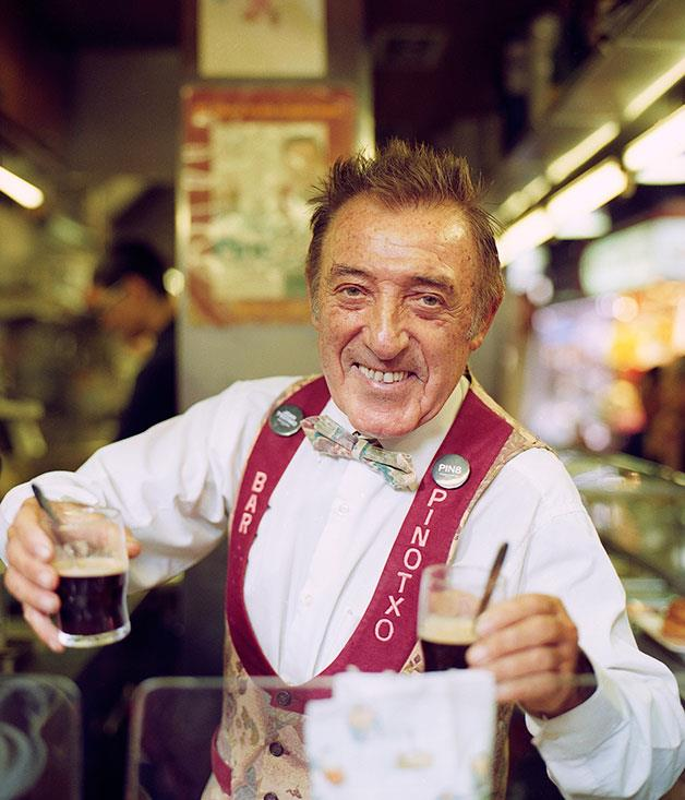 **Pinotxo** The charismatic Pinotxo (Pinocchio) at his popular tapas bar in La Boqueria market.