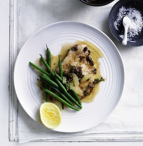 **Skate wings in brown butter** **Sole meunière**   It's this deceptively simple-looking bistro classic of fish pan-fried with a basic butter sauce that is positioned in the film as one of Julia Child's epiphanies at the table in France. Sole isn't something you see much of in Australia, but we pulled faces similar to Child's when we first tasted these **skate wings in browned butter**...    [View Recipe](http://gourmettraveller.com.au/skate_wings_in_lemon_and_caper_browned_butter.htm)     PHOTOGRAPH **BEN DEARNLEY**