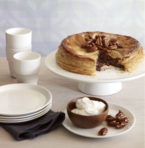 **Chocolate and pecan pie with candied pecans** **Chocolate and pecan pie with candied pecans**    [View Recipe](http://gourmettraveller.com.au/chocolate-and-pecan-pie-with-candied-pecans.htm)     PHOTOGRAPH **CHRIS CHEN**
