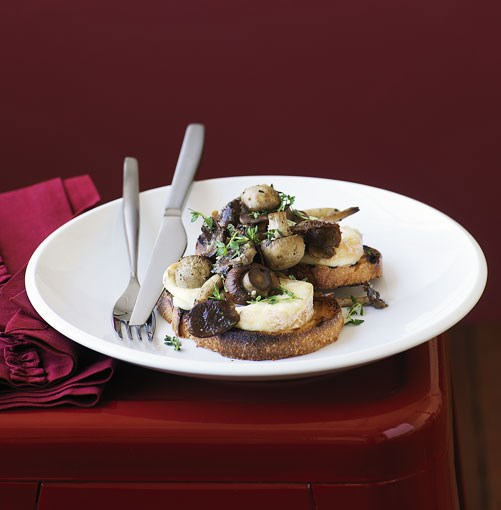 **Mushroom and Taleggio bruschetta** ...and if something vegetarian is more your speed, you can't beat this **mushroom and Taleggio bruschetta**.    [View Recipe](http://gourmettraveller.com.au/mushroom_and_taleggio_on_bruschetta.htm)     PHOTOGRAPH **WILLIAM MEPPEM**