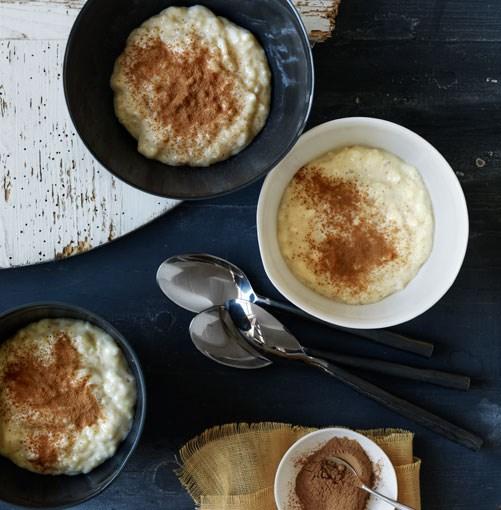 **Arroz con leche** **Arroz con leche**    [View Recipe](http://gourmettraveller.com.au/arroz_con_leche.htm)     PHOTOGRAPH **WILLIAM MEPPEM**