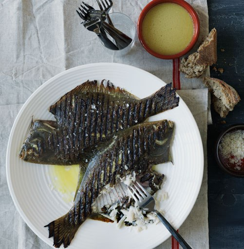 **Vine-smoked flounder with refrito** **Vine-smoked flounder with refrito**    [View Recipe](http://gourmettraveller.com.au/vinesmoked_flounder_with_refrito.htm)     PHOTOGRAPH **WILLIAM MEPPEM**
