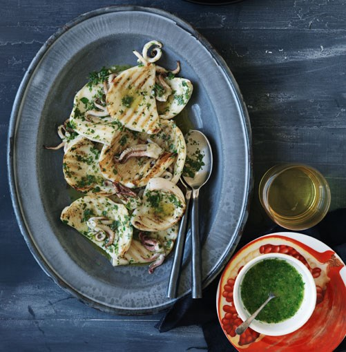 **Chargrilled cuttlefish, garlic and parsley** **Chargrilled cuttlefish, garlic and parsley**    [View Recipe](http://gourmettraveller.com.au/chargrilled_cuttlefish_garlic_and_parsley.htm)     PHOTOGRAPH **WILLIAM MEPPEM**