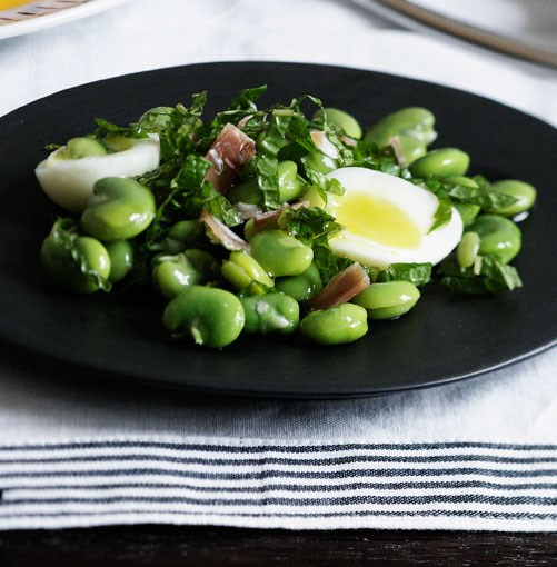 **Egg, beans and ham** **Egg, beans and ham**    [View Recipe](http://gourmettraveller.com.au/egg_beans_and_ham.htm)     PHOTOGRAPH **BEN DEARNLEY**