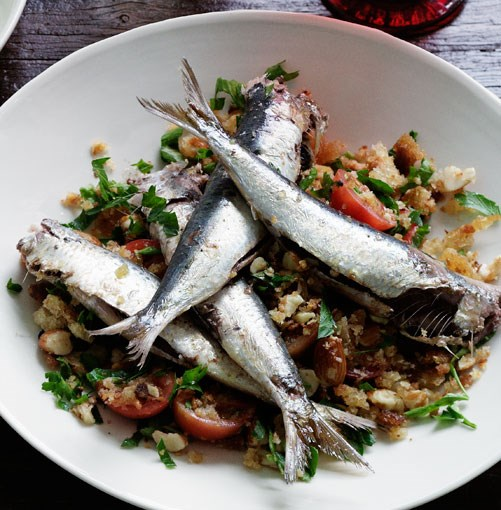 **Sardines on toast** **Sardines on toast**    [View Recipe](http://gourmettraveller.com.au/sardines_on_toast.htm)     PHOTOGRAPH **BEN DEARNLEY**