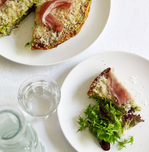 **Jamón, pea and Manchego omelette** **Jamón, pea and Manchego omelette**    [View Recipe](http://gourmettraveller.com.au/jamn_pea_and_manchego_omelette.htm)     PHOTOGRAPH **CHRIS CHEN**