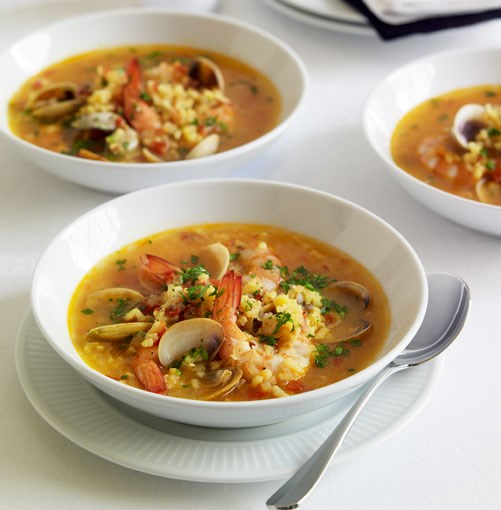 **Seafood and saffron soup** **Seafood and saffron soup**    [View Recipe](http://gourmettraveller.com.au/seafood_and_saffron_soup.htm)     PHOTOGRAPH **CHRIS CHEN**