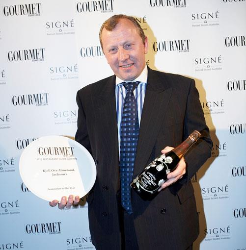 **Kjell Ove Almeland, Jackson's, Perth** Sommelier of the year 2010 Kjell Ove Almeland from Jackson's, Perth.