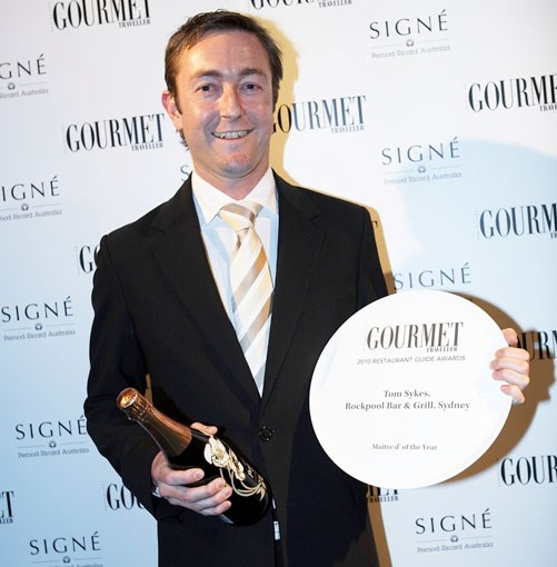 **Tom Sykes, Rockpool Bar & Grill Sydney** Maître d' of the year winner Tom Sykes from Rockpool Bar & Grill Sydney.