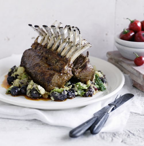 **Rack of lamb in adobo with trinxat** **Rack of lamb in adobo with trinxat**    [View Recipe](http://www.gourmettraveller.com.au/rack_of_lamb_in_adobo_with_trinxat.htm)     PHOTOGRAPH **BEN DEARNLEY**