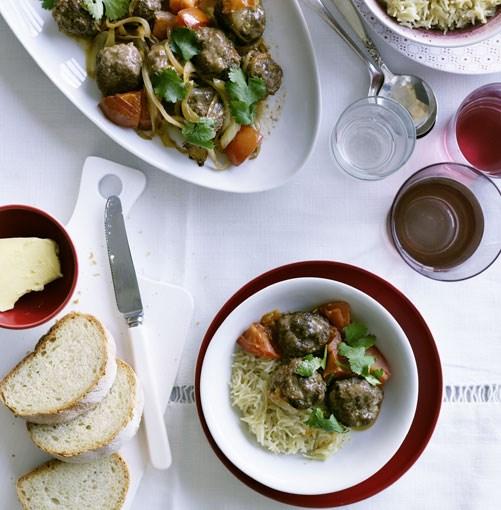 **Lamb meatballs with Lebanese rice** **Lamb meatballs with Lebanese rice**    [View Recipe](http://www.gourmettraveller.com.au/lamb_meatballs_with_lebanese_rice.htm)     PHOTOGRAPH **BEN DEARNLEY**