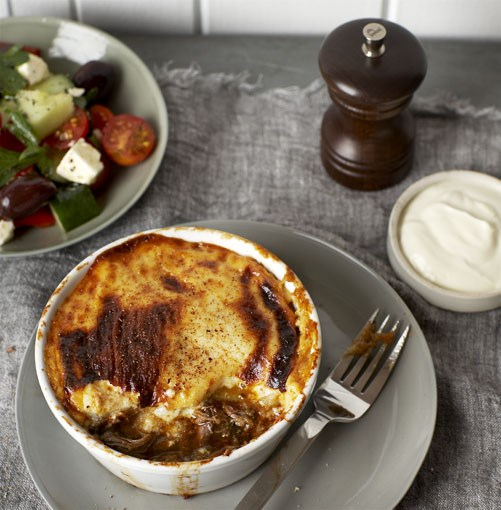 **Braised lamb neck moussaka** **Braised lamb neck moussaka**    [View Recipe](http://www.gourmettraveller.com.au/braised-lamb-neck-moussaka.htm)     PHOTOGRAPH **VANESSA LEVIS**