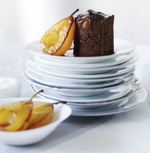 **Pear and almond mud cakes** **Pear and almond mud cakes**    [View Recipe](http://www.gourmettraveller.com.au/pear-and-almond-mud-cakes.htm)     PHOTOGRAPH **WILLIAM MEPPEM**   For more amazing chocolate recipes, check out our  **[shameless chocolate recipe gallery](/15-shameless-chocolate-recipes.htm)**.