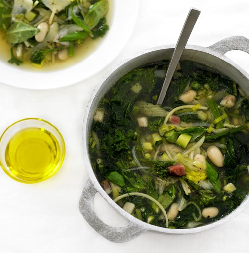 **Minestrone verde** **Minestrone verde**    [View Recipe](http://gourmettraveller.com.au/verde_minestrone.htm)     PHOTOGRAPH **TENY AGHAMALIAN**