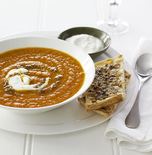 **Carrot soup with hazelnut dukkah** **Carrot soup with hazelnut dukkah**    [View Recipe](http://gourmettraveller.com.au/carrot_soup_with_hazelnut_dukkah_.htm)     PHOTOGRAPH **CHRIS CHEN**