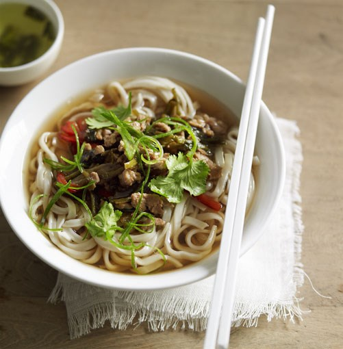 **Noodle soup with pork and pickled vegetables (suan cai rou lamian)** **Noodle soup with pork and pickled vegetables (suan cai rou lamian)**    [View Recipe](http://gourmettraveller.com.au/noodle_soup_with_pork_and_pickled_vegetables.htm)     PHOTOGRAPH **CHRIS CHEN**