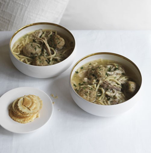 **Matzo ball soup** **Matzo ball soup**    [View Recipe](http://gourmettraveller.com.au/matzo_ball_soup.htm)     PHOTOGRAPH **WILLIAM MEPPEM**