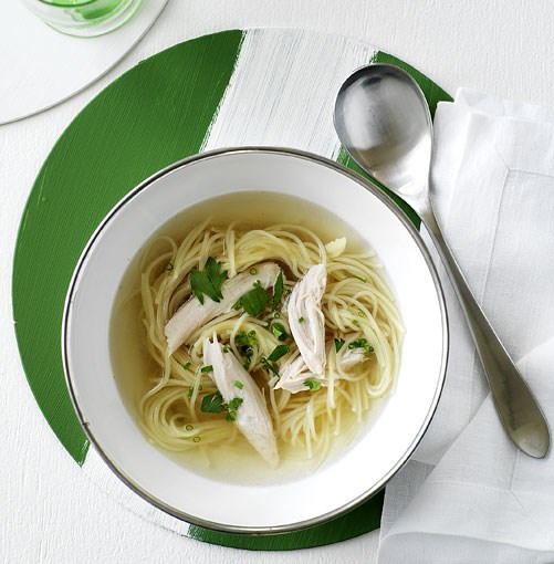 **Chicken noodle soup** **Chicken noodle soup**    [View Recipe](http://gourmettraveller.com.au/chicken_noodle_soup.htm)     PHOTOGRAPH **WILLIAM MEPPEM**