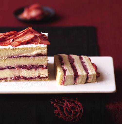 **Strawberry layer cake** **Strawberry layer cake**    [View Recipe](http://gourmettraveller.com.au/strawberry_layer_cake.htm)     PHOTOGRAPH **WILLIAM MEPPEM**