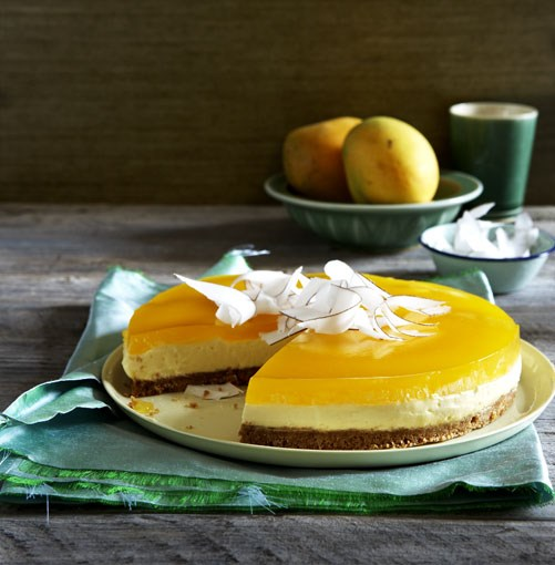 **Mascarpone and coconut cake with mango jelly** **Mascarpone and coconut cake with mango jelly**    [View Recipe](http://gourmettraveller.com.au/mascarpone_and_coconut_cake_with_mango_jelly.htm)     PHOTOGRAPH **CHRIS CHEN**