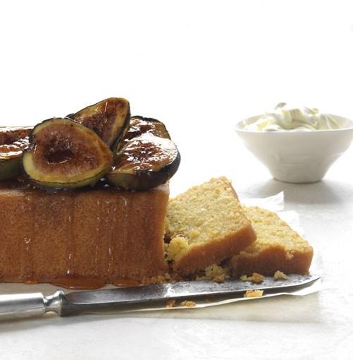 **Polenta cake with burnt figs and honey** **Polenta cake with burnt figs and honey**    [View Recipe](http://gourmettraveller.com.au/polenta-cake-with-burnt-figs-and-honey.htm)     PHOTOGRAPH **JASON LOUCAS**