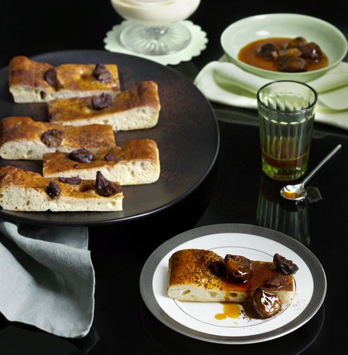 **Honeyed chestnut schiacciata** **Honeyed chestnut schiacciata**    [View Recipe](http://gourmettraveller.com.au/honeyed-chestnut-schiacciata.htm)     PHOTOGRAPHY **SHARYN CAIRNS**