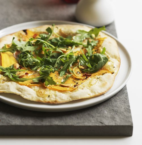 **Pumpkin, taleggio and wild rocket pizza** **Pumpkin, taleggio and wild rocket pizza**    [View Recipe](http://www.gourmettraveller.com.au/pumpkin-taleggio-and-wild-rocket-pizza.htm)     PHOTOGRAPH **LUKE BURGESS**