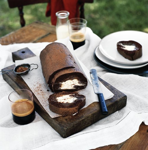 **Chocolate rolled sponge with chestnut cream** **[Chocolate rolled sponge with chestnut cream](http://www.gourmettraveller.com.au/chocolate-rolled-sponge-with-chestnut-cream.htm)**      [](http://www.gourmettraveller.com.au/chocolate-rolled-sponge-with-chestnut-cream.htm)      PHOTOGRAPH **SHARYN CAIRNS**