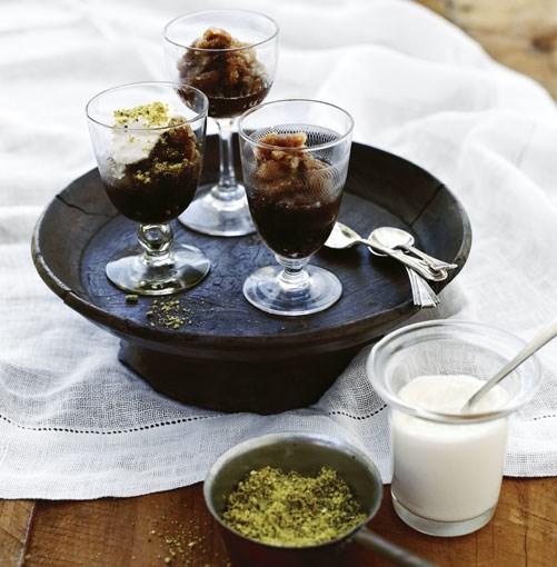 **Coffee and cardamom granita with cream** **[Coffee and cardamom granita with cream](http://www.gourmettraveller.com.au/coffee-and-cardamom-granita-with-cream.htm)**      [](http://www.gourmettraveller.com.au/coffee-and-cardamom-granita-with-cream.htm)      PHOTOGRAPHY **SHARYN CAIRNS**