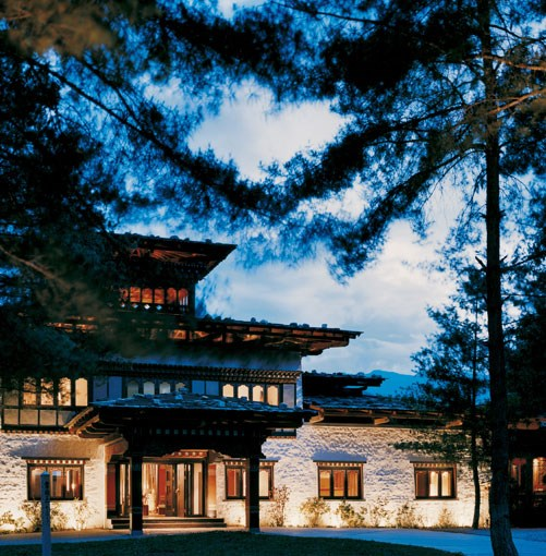 "**Uma Paro, Bhutan** **Uma Paro, Bhutan**   Asia's resort queen Christina Ong knows how to wow. Her Como Hotels Uma Paro sits magically above the Paro Valley, a decadent boot camp retreat for yoga- and massage-mad guests or, for everyone else, simply a compelling reason to visit the Himalayan Kingdom of Bhutan. Interiors of the 29 rooms are cool and modern with a dash of native décor – traditional wall designs are a specialty. Tradition reigns too in the Bukhari restaurant, where dishes such as ""sicum paa"", dried local pork with Bhutanese chilli, are served and most of the produce is organic, farmed in the surrounding valleys.   Room to book: One-bedroom villas come with butler service and a wood-burning stove to warm chill mountain nights.   Uma Paro, Bhutan, +975 8 271597, **[uma.como.bz](http://www.uma.como.bz)**. Superior rooms from $455 per night.      PHOTOGRAPH **COURTESY UMA PARO**"