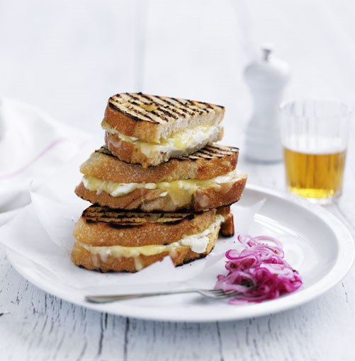 **Grilled cheese sandwich with pickled Spanish onion** **[Grilled cheese sandwich with pickled Spanish onion](http://www.gourmettraveller.com.au/grilled_cheese_sandwich_with_pickled_spanish_onion.htm)**   Any strong or stinky cheese works well with this classic snack recipe.   PHOTOGRAPH **BEN DEARNLEY**    [View Recipe](http://www.gourmettraveller.com.au/grilled_cheese_sandwich_with_pickled_spanish_onion.htm)