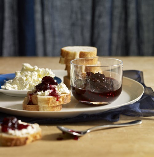 **Cherry-vanilla jam** **[Cherry-vanilla jam](http://www.gourmettraveller.com.au/cherry-vanilla-jam.htm)**   The addition of high-pectin raspberries helps this jam to set quickly without losing the fresh flavour of the cherries through lengthy cooking. It's particularly good on toast with fresh ricotta, or simply add a dollop to natural yoghurt. You can make this jam in larger batches, but it's a good idea not to do more than double the quantities, given the quantity of cherries that need to be pitted.   PHOTOGRAPH **CHRIS CHEN**    [View Recipe](http://www.gourmettraveller.com.au/cherry-vanilla-jam.htm)