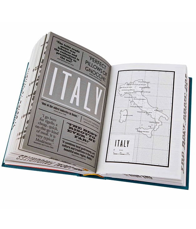 **** Phaidon's new _Where Chefs Eat_ ($24.95, hbk) does what it says on the packet: its Italy section, for instance, lists Gualtiero Marchesi's favourite Brescia osteria, Massimo Bottura's pick of Modena's tigelle shops, and more.