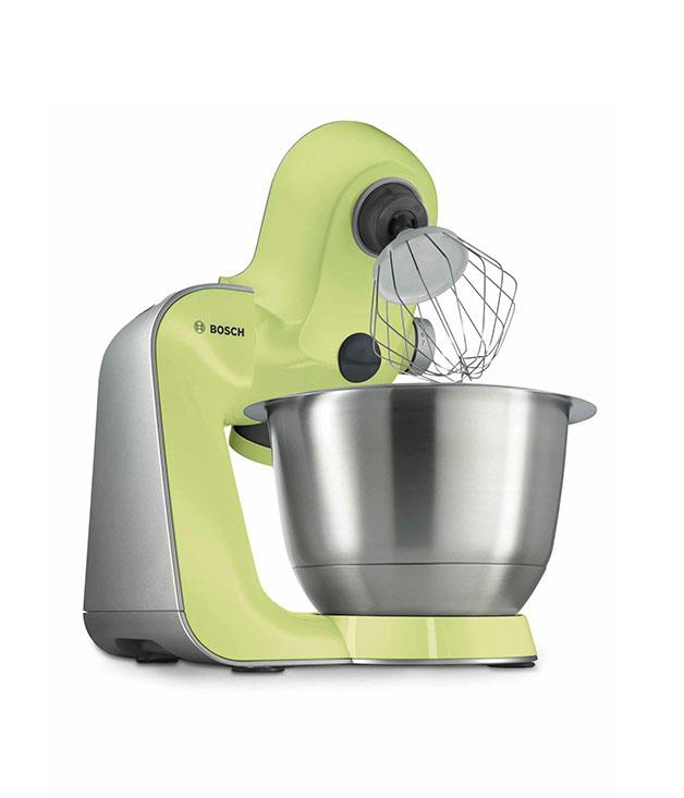 ****  Combining power (900W, no less) with pastels (miracle blue and yellow passion, both $699), [Bosch](http://bosch-home.com.au/)'s new MUM5 kitchen machine is a slicer/kneader/blender/mixer to covet.