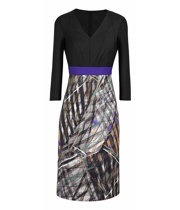 "**** Boss Black ""Divela"" dress, $1049, (03) 9474 6310"