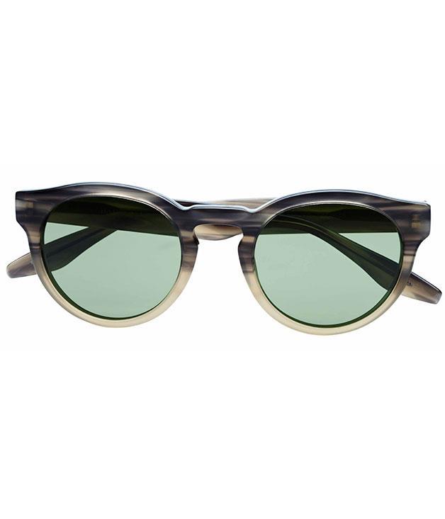 """**** [Barton Perreira](http://bartonperreira.com) """"Dillinger"""" sunglasses, $440."""