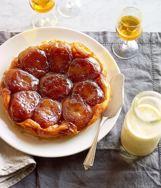 "**[Apple tarte Tatin](https://www.gourmettraveller.com.au/recipes/browse-all/apple-tarte-tatin-14159|target=""_blank"")**"