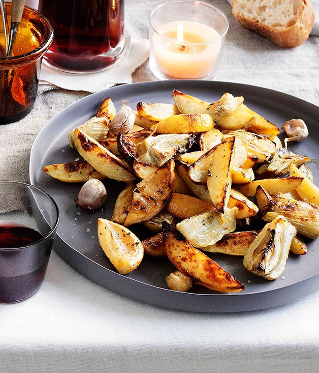 **Roast potato and fennel with garlic and lemon**