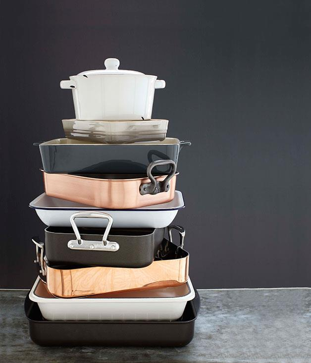 "**** Winter cooking calls for hearty one-pan meals. Layer up big flavours and let the oven do all the work. These [roasting pans and casseroles](http://www.gourmettraveller.com.au/entertaining/style/2013/6/roasting-pans/ ""Roasting pans"") are perfect inspiration."