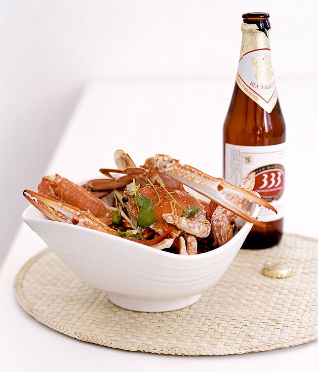 Ginger and beer steamed crab