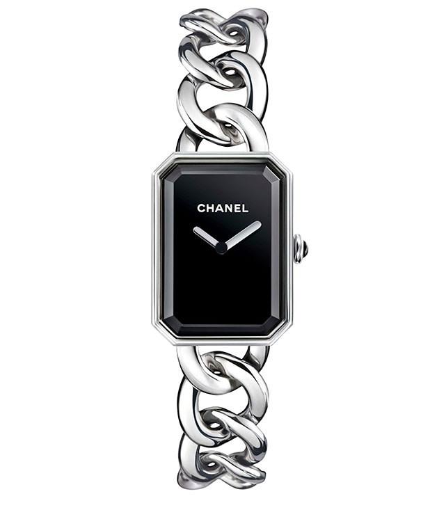 "**** Chanel ""Première"" watch, $4950. [chanel.com](http://chanel.com ""Chanel"")"