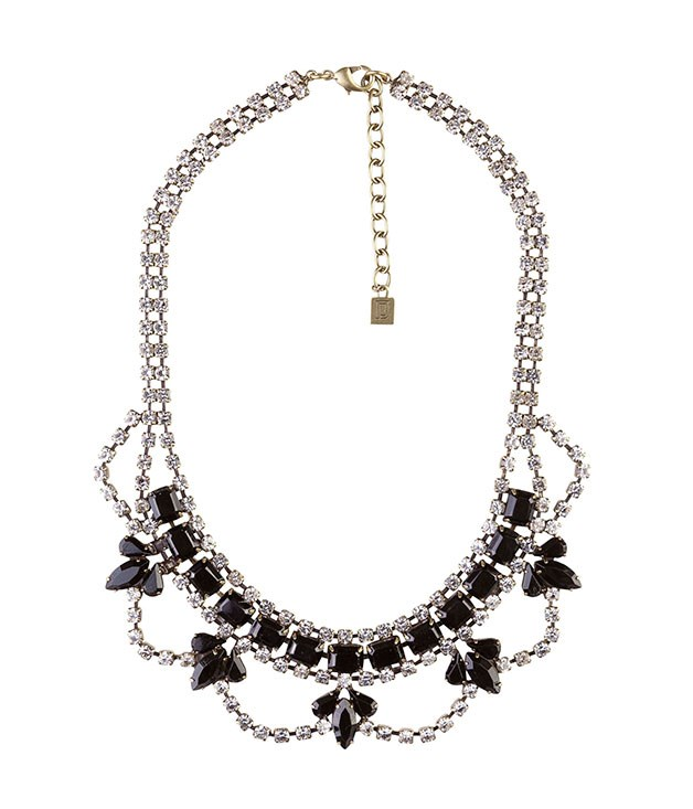 "**** Dannijo ""Crystal Drop"" necklace"", $472, from [Stylebop](http://stylebop.com ""Stylebop"")."