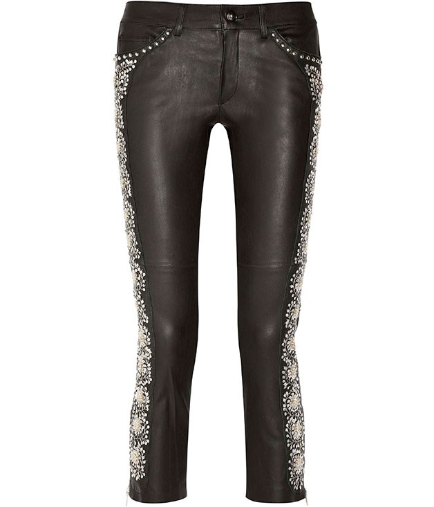 "**** Isabel Marant ""Dobra"" embellished leather pants, $2620."