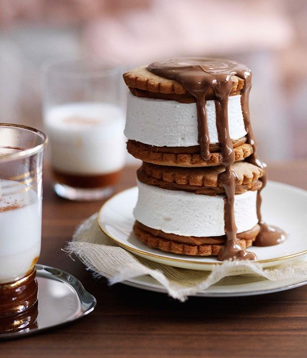 Dulce de leche marshmallow biscuits