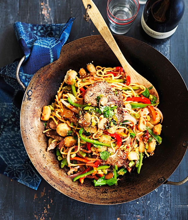**Malaysian-style Hokkien beef noodles**