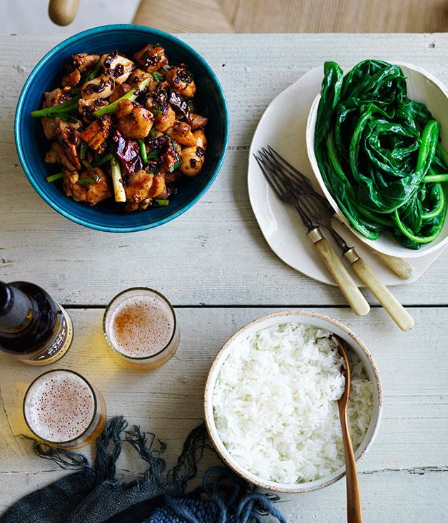 "**[Mr Wong's Kung Pao chicken](https://www.gourmettraveller.com.au/recipes/chefs-recipes/kung-pao-chicken-9129|target=""_blank"")**"